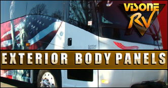 RV Exterior Body Panels 2009 HOLIDAY RAMBLER IMPERIAL PART FOR SALE BY VISONE RV SALVAGE PARTS